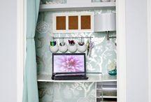 decor | closet desk / by Donna Caruthers