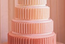 Cakes: Orange/Peach Wedding / NOT my work. Just gorgeous cakes I love. / by Sheena House