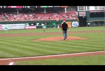 First pitch day / I threw out a ceremonial first pitch at the Reds game in Cicinnati on April 26, 2012   / by Matt Schroeder