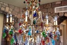 lamparas de cristal de ... / by Mery ES