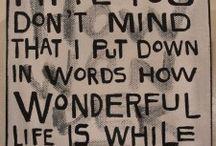 words / by Blair Headrick-Hirschman
