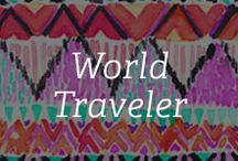 World Traveler / We are hitting the global trail and getting inspired by the colors and prints of the world, both on and off the runway. / by Gemvara.com
