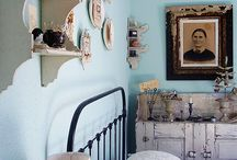 bedroom Aqua/Grey/Sepia / by Jenny Holiday of Everyday is a Holiday