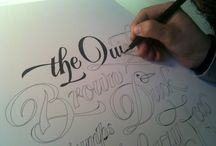 typography- by hand / by Petra Blahova