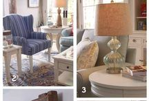 Relax - Casual Living Room / The dream…escaping to your retreat by the water with only your prized possessions. The reality…an everyday vacation where upscale accents infuse casual cottage style. Unexpected pairings of upbeat patterns and subdued colors emanate a sense of calm, soothing and casual cohesiveness. / by HGTV HOME