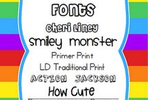 Favorite fonts / by Christen Mayes