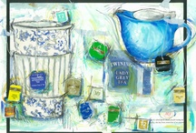 Tea / Drawing inspiration from what I see around me is one of my favourite things... I blog about my process, life and work , and you can contact me at http://traceyfletcherking.blogspot.com.au/ / by Tracey Fletcher King