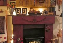 Primitive/Colonial Rooms with Fireplaces / by Lisa Davis