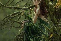 Art + Surreal / Art, illustrations, fantasy, color, paintings, pastels, watercolor, artwork, design / by Toni Holder