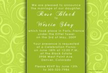 Green Wedding Invitations / by InvitesWeddings