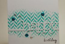 Cards ~ Chevron/Hexagon / by Wendy Dodds