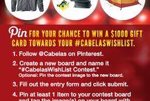 #CabelasWishList Contest / Wish List! / by Christa Aldrich