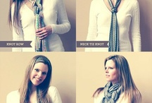 ways to tie a scarf / by Clarissa Ford