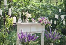 a vintage lavender & lace wedding theme / by Annamarie Akins