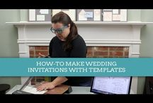 Download & Print TV / DIY wedding invitation video tutorials. Watch the easy to follow steps and create gorgeous invitations at home. / by Download & Print