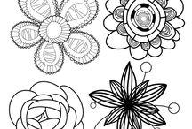 Zen-Doodles / Zentangle patterns, doodle ideas, journal ideas / by Laura Ruscetti