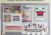 craftroom organizing / by Terri Eisenmenger