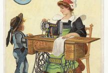 Nostalgic sewing pictures / Old fashioned sewing pictures, old advertisements for sewing items, vintage items, from a simpler time. / by Kim Teigen