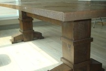 Reclaimed Wood Table / I am a huge fan of Reclaimed wood tables, not just because I am in the business of building them, but they are works of art.  I like seeing the different styles and variations for the support underneath.  I utilize this board for ideas when I am ready to build tables.  / by Reclaimed Wood, Inc.