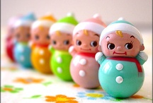 kitschy cuties / kawaii . kokeshi . matryoshka . babushka . momiji . and the like     {ruh~roh, Holly is now officially a momiji collector! *squee!*} / by Holly