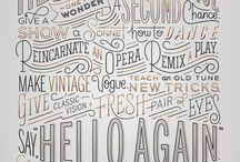 Cool typographic compositions / by Carmen Virginia Grisolía