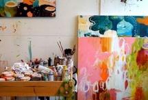 artist studio / by Kerrie Hook Collins