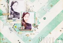 Scrappy Inspiration: Summer / Summertime Inspiration for your layouts / by Zoe Pearn Designs