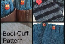 Knit and Crochet Socks , Legwarmers and Boot cuffs / Knit and crochet for keep warm your legs and feet / by learn how to knit a scarf