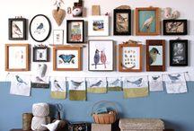 gallery wall / by linda (burlap+blue)