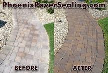 Pavers / Photos of pavers, paver cleaning, paver sealing. Paver driveways, walkways, patios, etc. / by ACME Powerwash