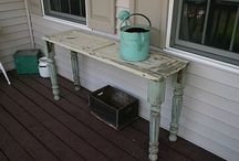 DIY Tables / Amazing tables for the dining room, family room, with coffee tables and end tables.  Including full DIY tutorials on how to refinish and wood stain for an amazing table furniture reveal. / by Laurie ~ Tip Junkie