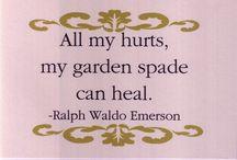 """Secret Garden / """"All my hurts, my garden spade can heal"""" ~Ralph Waldo Emerson / by Deanna Joy Stadler"""