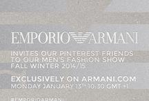 Emporio Armani Fall / Winter 2014 Menswear / by ARMANI