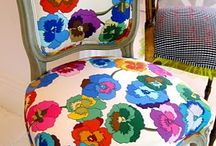 Upholstered  / I've got a thing for chairs. One of my goals for 2012 is to learn how to upholster.  / by Laura Beth Love