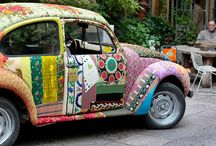VW ♥ Luv Bugs/Buses / I love old VW bugs and vans - brings out the hippie in me! / by Stephanie Lackey