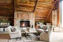 """Living Room- Country Chic / Living Rooms that would work well in my dream country house...or maybe my dream beach house.  More """"put your feet up,"""" more """"curl up on the couch"""" casual.     / by Kate McEntire Jeter"""