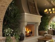outdoor fireplace / by Debby Jones