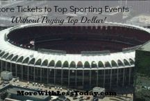 For the Sports Fan / Recipes, sources for discounted tickets, and fan gear for less! Everything for the sports fan and their cheerleaders - Go Team Go! / by Lori @ More With Less Today
