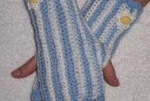 Fingerless Mitts and Armwarmers and Boot Cuffs / crochet fingerless mitts, gloves and arm warmers. / by Sharon Santorum