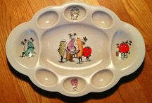1950's Gaiety Grill dishes / Crown Devon pottery England 1950's vintage design...rare! / by Christina Bishop