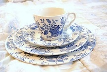 Dish it Up in Blue & White / My obsession with blue & white dish ware!! ☕️ / by Barbara Hainsworth