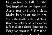 words of wisdom  / by Crystal Lynn
