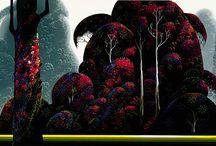 Art - Eyvind Earle / by David James