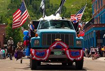 Fourth of July in Aspen / Aspen celebrates Independence Day with a whimsical twist.  Approximately 20,000 residents and visitors come together to honor the nation's birthday in true American style.  Festivities include a parade, U.S. Airforce jet flyby, concerts and a kid's bicycle rodeo. / by Aspen Colorado