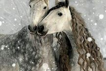 A Horse is a Horse, Of Course / A tribute to the magnificent animal known as the horse. / by Vikki Cook