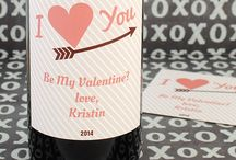 Valentine's Day / Personalized Valentine's Day labels, stickers, bottled water and more from BottleYourBrand.com / by Bottle Your Brand