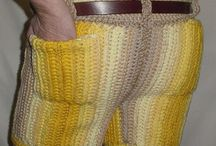 Men in Crocheted Pants / Men in crocheted pants.  What do you think?   Would you make these for your significant other?  Would he wear them if you did? / by Darleen Hopkins