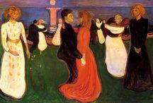 Edvard Munch / (Løten, 12 de diciembre de 1863 - Ekely, 23 de enero de 1944) fue un pintor y grabador noruego de la corriente expresionista. Sus evocativas obras sobre la angustia influyeron profundamente en el expresionismo alemán de comienzos del siglo XX. Sus obras son  soledad (Melancolía), la angustia (El Grito )  la muerte (Muerte de un bohemio) y el erotismo (Amantes, El beso).El 23 de enero de 1944 muere en Noruega como había vivido: completamente solo.Tras su muerte Ekely dona a la ciudad de Oslo el c / by Juana Martín