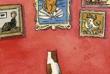 Gaticos y perretes artísticos / by Nuria Rivero