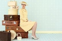 "Women Travel / I spent 28+ years as a travel consultant .... I have several ""travel oriented"" collections like vintage suitcases, old motel keys, Route 66 memorabilia, airline stuff...the list goes on and on.  I love photos of women travelers too. / by Beth McDonald"